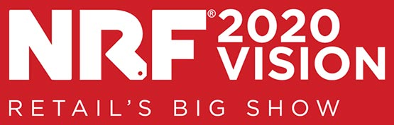 "Red logo that says ""NRF 2019 Retail's Big Show"""